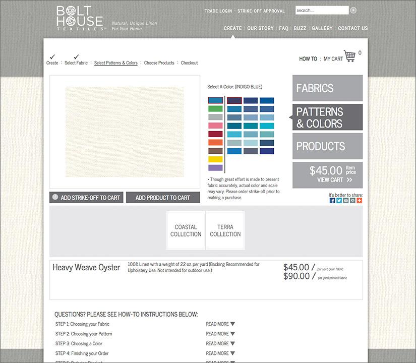 Bolt House Textiles Website |Red Letter Marketing