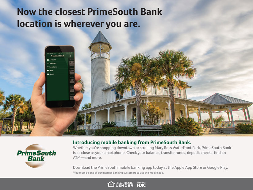 PrimeSouth Bank Mobile Ads | Brunswick |Red Letter Marketing |Greensboro Marketing Agency
