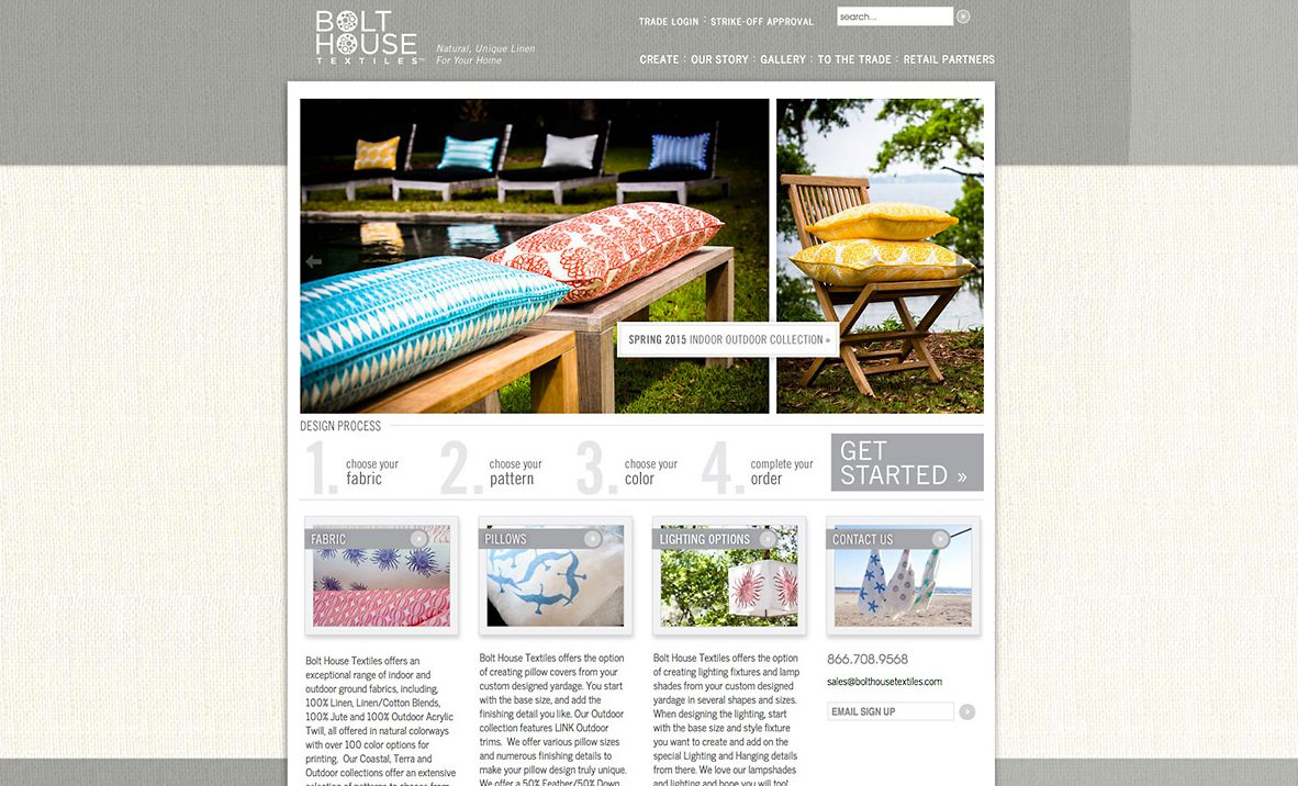Bolt House Textiles Website |Red Letter Marketing