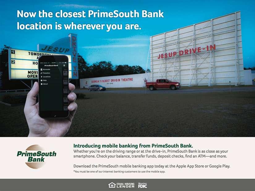 PrimeSouth Bank Mobile App Development - Drive In