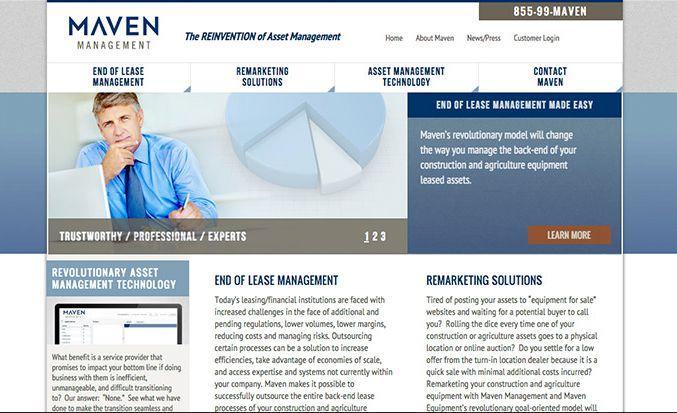 Maven Management Website |Red Letter Marketing | Greensboro Marketing Agency