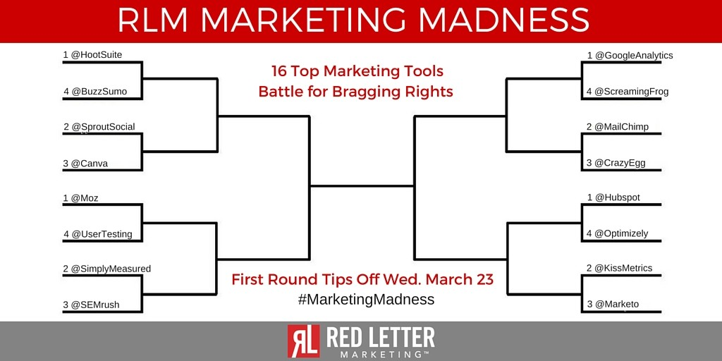 RLM Marketing Madness Tournament Bracket